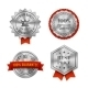Silver Metallic Quality Badges or Labels - GraphicRiver Item for Sale