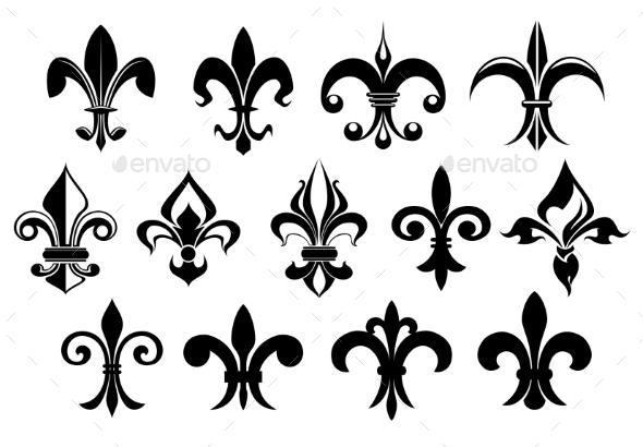 GraphicRiver Fleur De Lys Vintage Design Elements 9473695