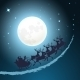 Santa on His Sleigh Christmas Background - GraphicRiver Item for Sale