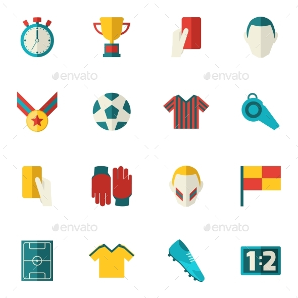 GraphicRiver Soccer Icons Flat 9473736