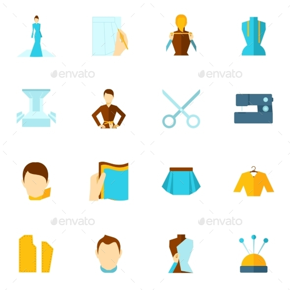 GraphicRiver Clothes Designer Icon Flat 9473743