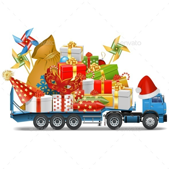 GraphicRiver Trailer with Christmas Gifts 9473751