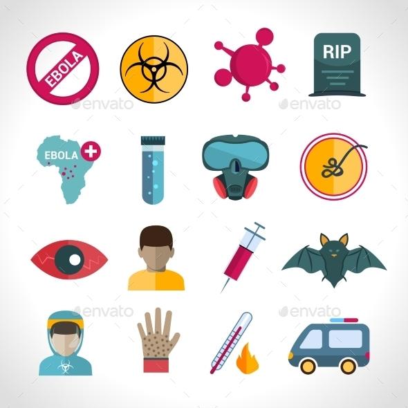 GraphicRiver Ebola Virus Icons 9473752