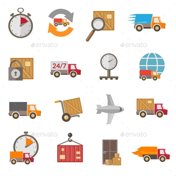 GraphicRiver Delivery Icons Set 9474001