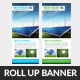 Green Energy Roll Up Banner Template - GraphicRiver Item for Sale