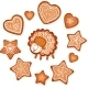 Gingerbread Stars, Hearts and Sheep - GraphicRiver Item for Sale
