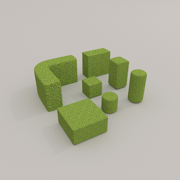 3DOcean Low Poly Hedge Collection 9474120