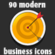 90 Modern Business Icons - GraphicRiver Item for Sale
