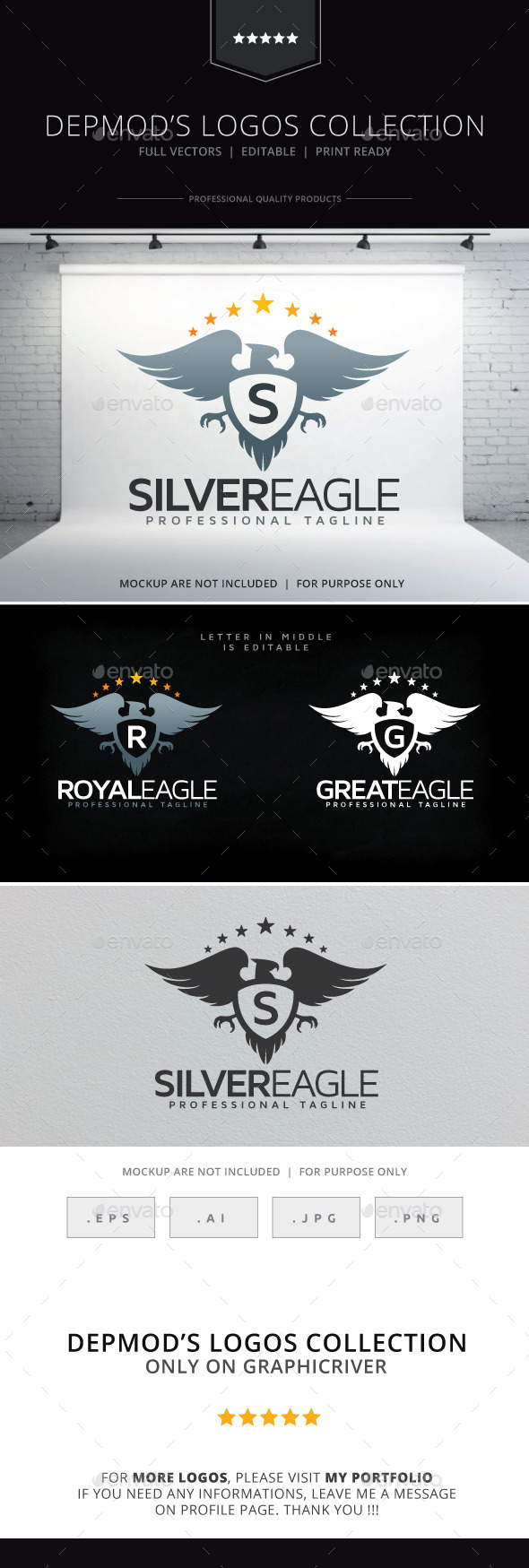 GraphicRiver Silver Eagle Logo 9474690