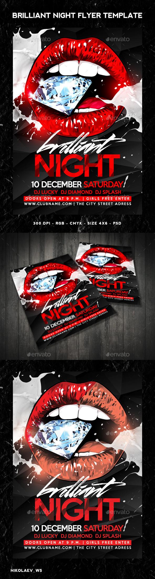 GraphicRiver Brilliant Night Flyer 9442631