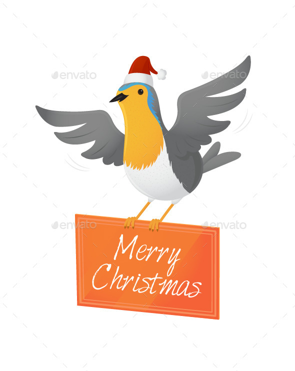 GraphicRiver Christmas Robin 9474758