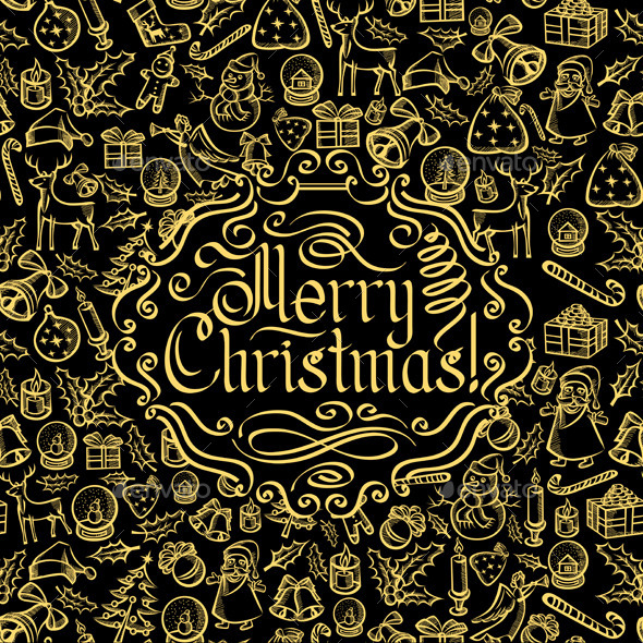 GraphicRiver Merry Christmas Text 9475022