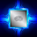 brain symbol on computer processor - PhotoDune Item for Sale