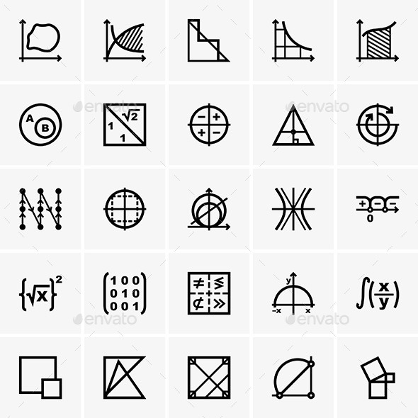 GraphicRiver Math Icons 9475116