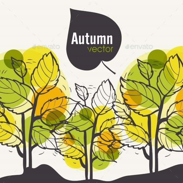 GraphicRiver Autumn Tree Background 9475162