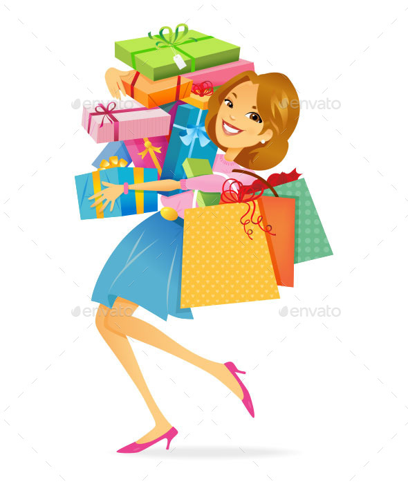 GraphicRiver Woman Shopping 9475168