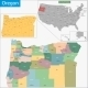 Oregon Map - GraphicRiver Item for Sale
