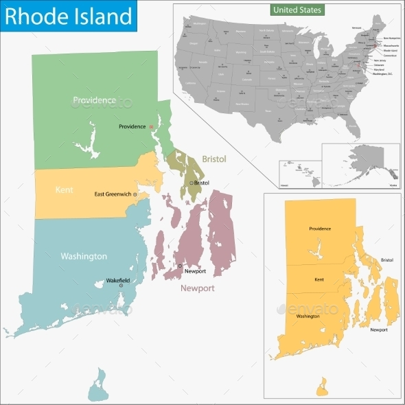 GraphicRiver Rhode Island Map 9475174