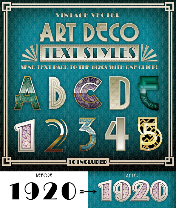 GraphicRiver Art Deco Text Styles 9475203