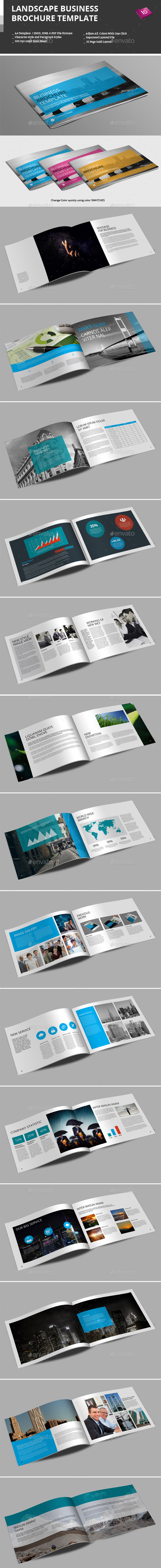 GraphicRiver Landscape Business Brochure Template 9475204