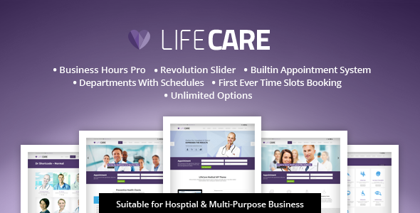 LifeCare - Responsive Medical Wordpress Theme - Health & Beauty Retail