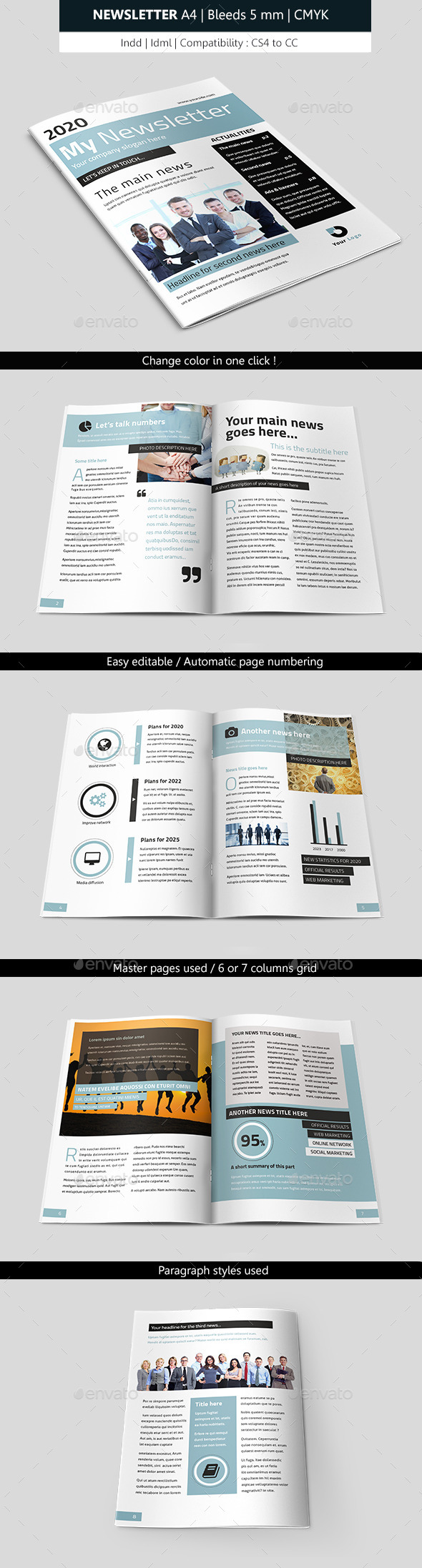 GraphicRiver Business Indesign Newsletter Template 9475285
