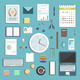 Office Supplies Collection Flat Style Illustration - GraphicRiver Item for Sale