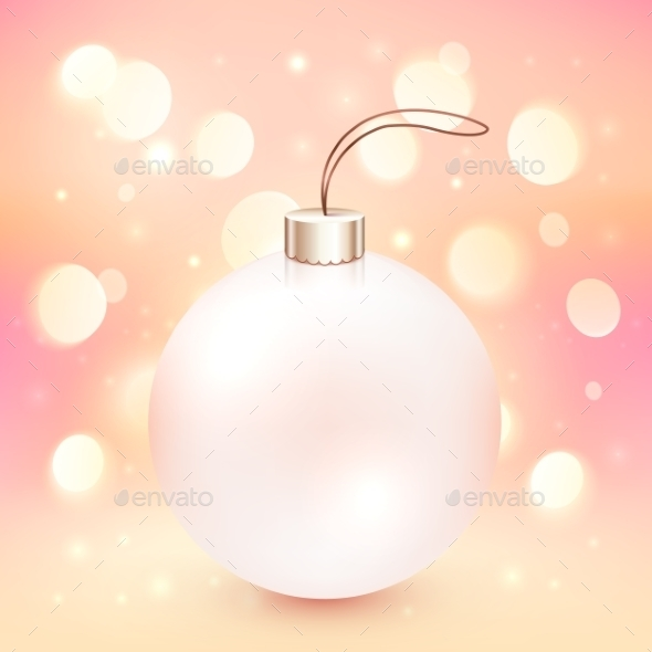 GraphicRiver Pink Christmas Ball on Bokeh Background 9475352