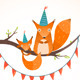 Little Squirrel and Mother Birthday Greeting Card - GraphicRiver Item for Sale