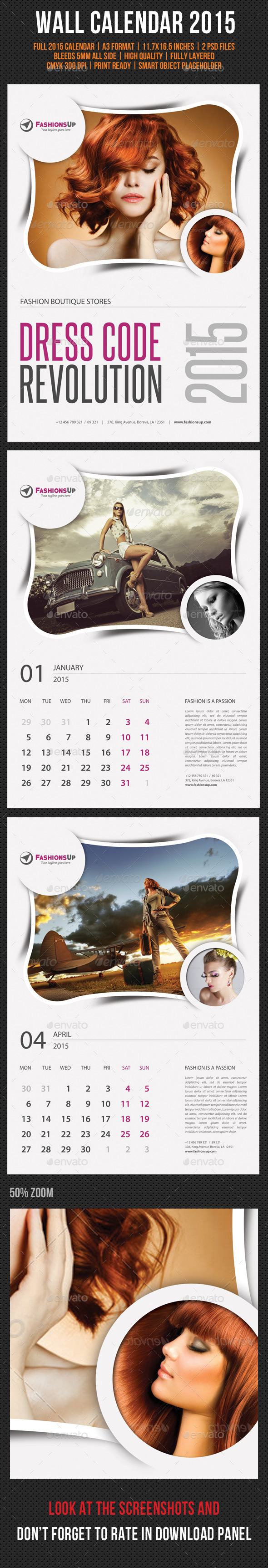 GraphicRiver Wall Calendar 2015 V13 9475503