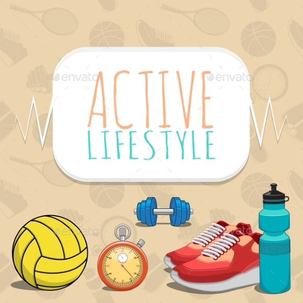 GraphicRiver Active Healthy Lifestyle Background 9475556