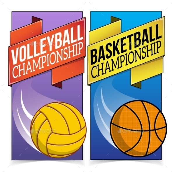 GraphicRiver Basketball and Volleyball Banners 9475634