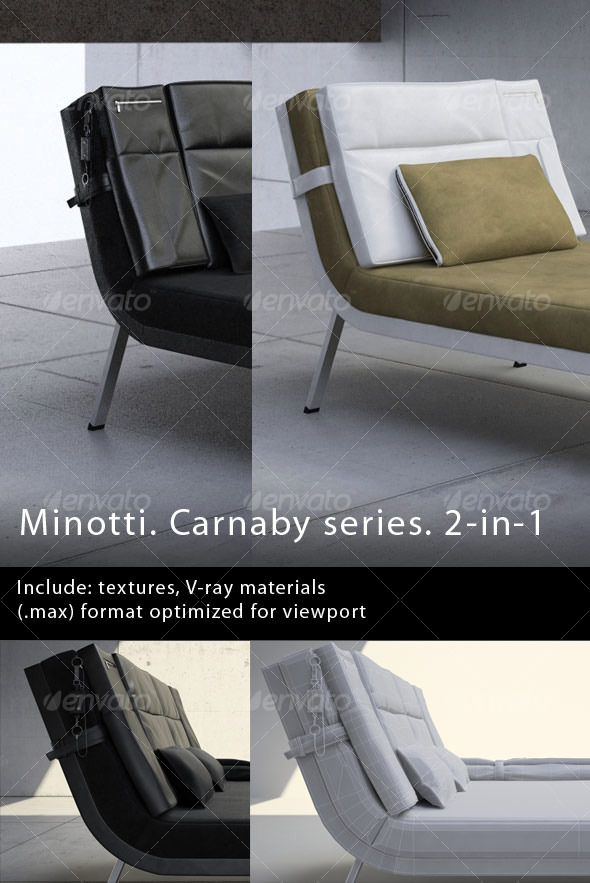 Minotti. Carnaby series. 2-in-1 - 3DOcean Item for Sale