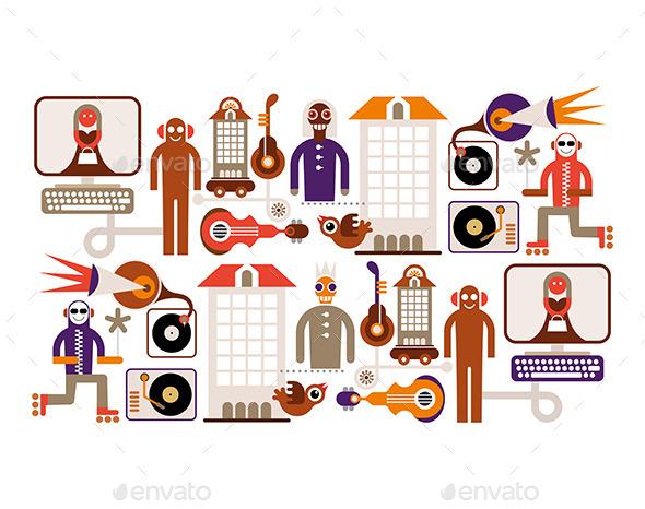 GraphicRiver Music City 9475655