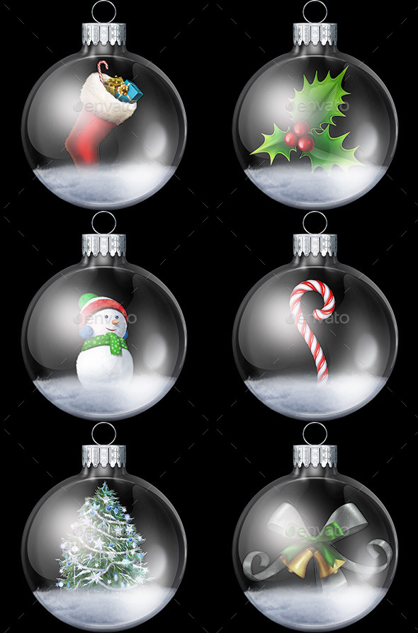 GraphicRiver Christmas Snowglobe Collection 9475672