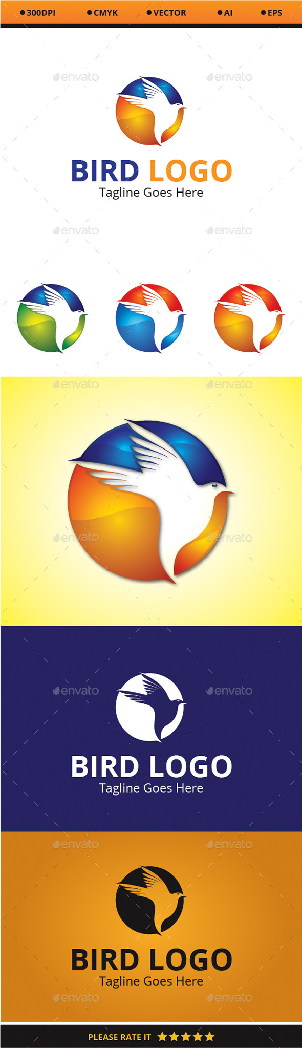 GraphicRiver Bird Logo 9475704