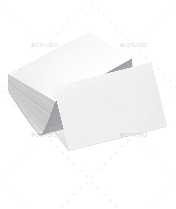 GraphicRiver Stack of Blank Business Cards 9475718