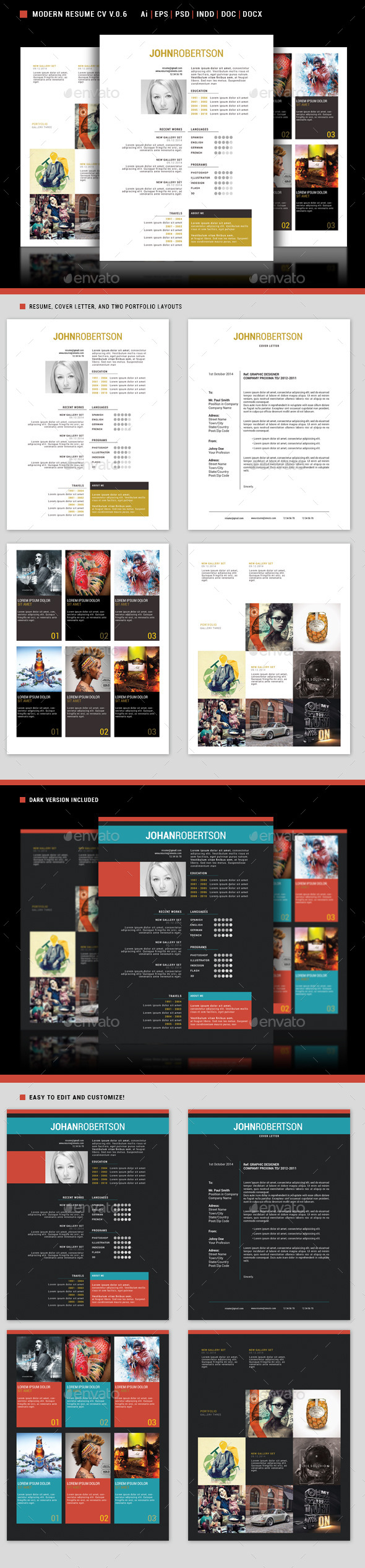 GraphicRiver Modern Resume Cv 0.6 9475799