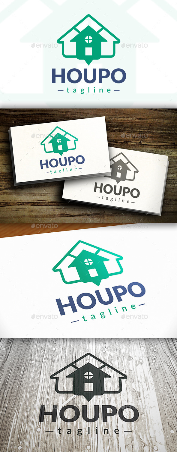 GraphicRiver House Point Logo 9475805