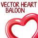 Heart Balloon - GraphicRiver Item for Sale