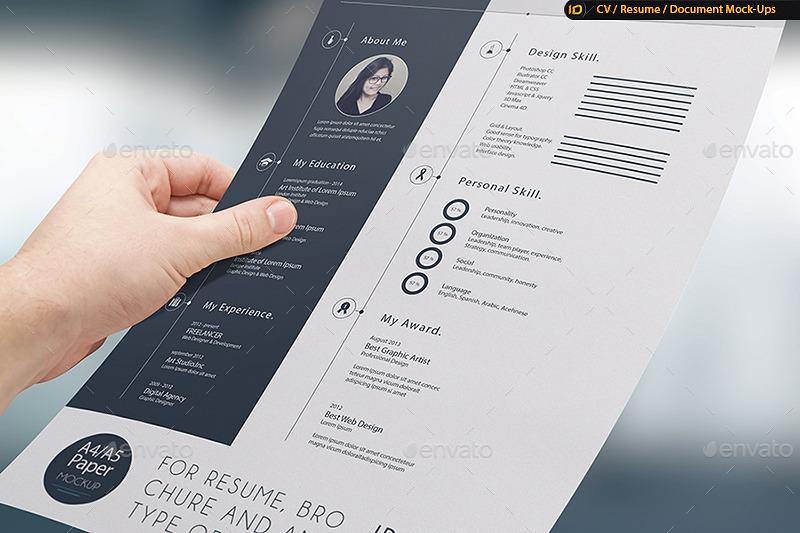 cv resume mock up by idsains graphicriver
