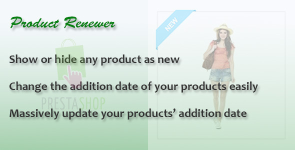Product Renewer for PrestaShop