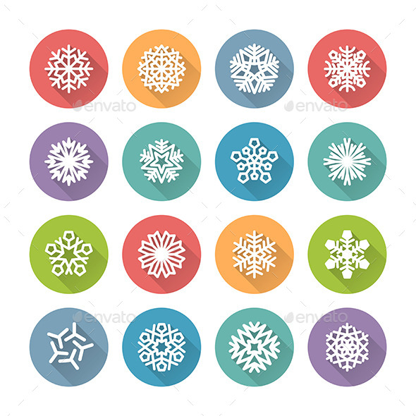 GraphicRiver Snowflake Icons 9449029