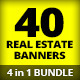 4 in 1 Bundle - Real Estate Banner Mega Pack - GraphicRiver Item for Sale