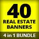 4 in 1 Bundle - Real Estate Banner Mega Pack - GraphicRiver Item for Sale