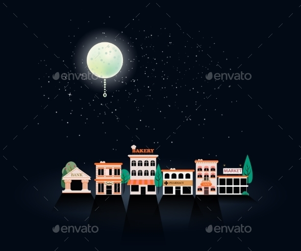 GraphicRiver Set Buildings of Small Business Flat Design 9476055