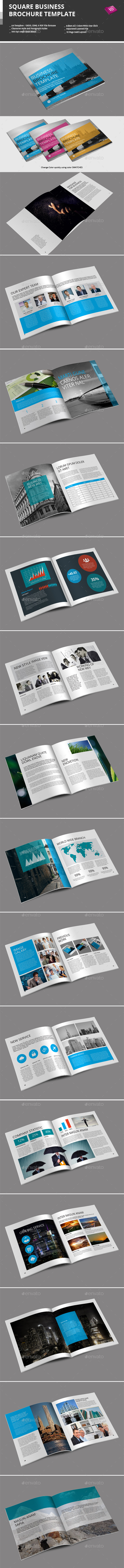 GraphicRiver Square Business Brochure Template 9476062