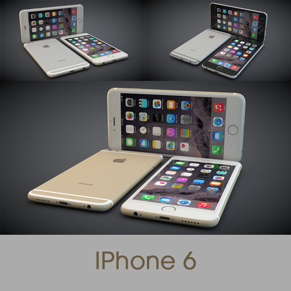 3DOcean iPhone 6 All Three Colours 9476144