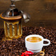 Coffee Grinder with Beans and coffe cup - PhotoDune Item for Sale