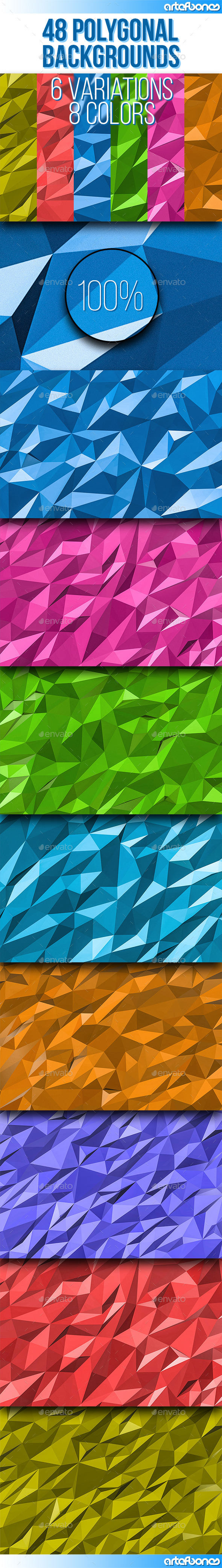 GraphicRiver 48 Polygonal Backgrounds Vol.3 9476221